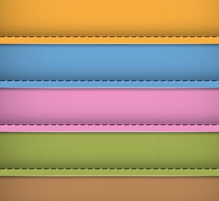 Colorful leather background. Blank banners. Vector illustration