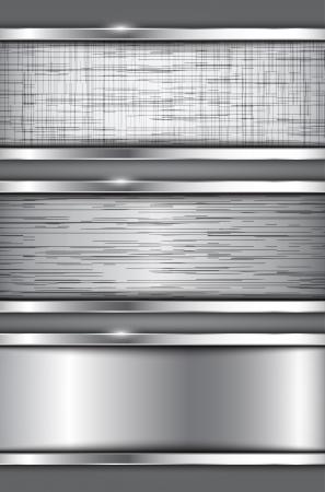 metallic banners: Metallic banners  Abstract textured backgrounds  Vector illustration Illustration
