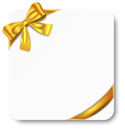 Nice gift card with golden ribbon