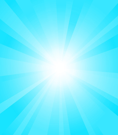sun rays: Sun rays on blue sky Illustration