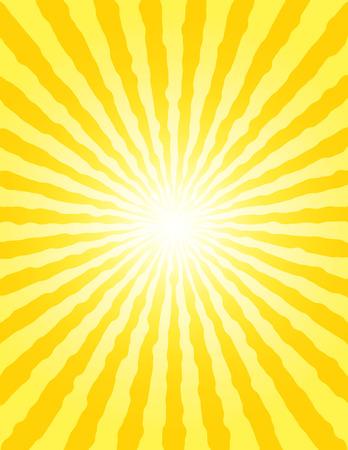 golden dusk: Sun background with shining rays. Sunbeams. Sun-rays. Vector Illustration