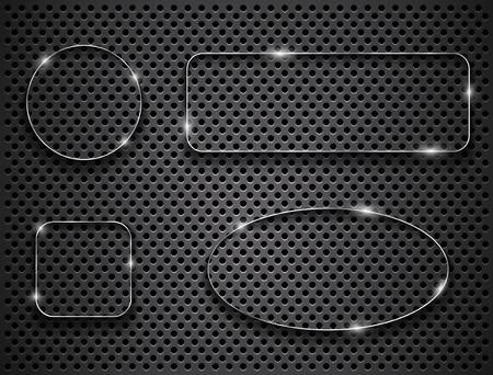 metallic: Metallic shapes. Vector illustration Illustration