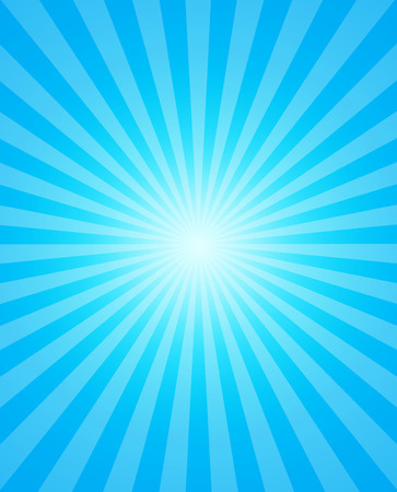 Background of blue radial rays. Vector illustration