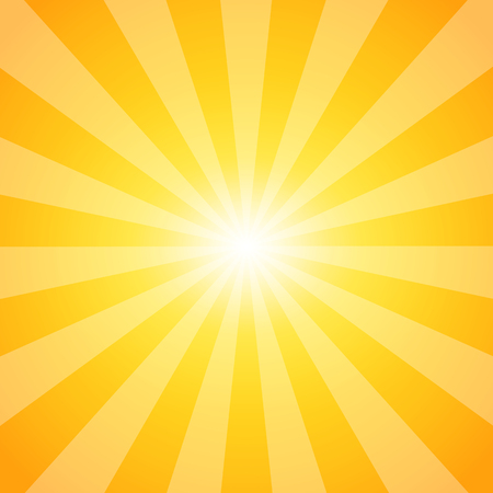 Sun. Sunburst pattern. Abstract background of sun with shining rays. Vector illustration Ilustração