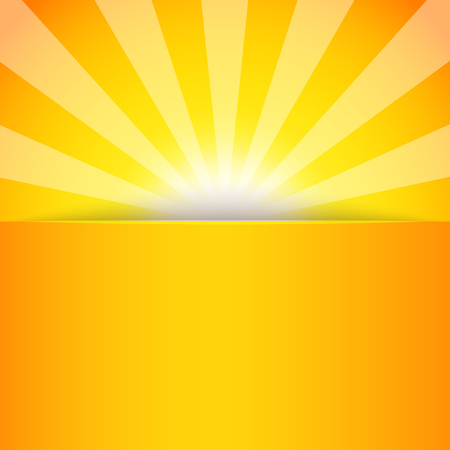 Banner of abstract sun-rays. Sunburst pattern. Vector illustration
