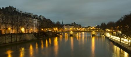 Bridges of night Paris photo