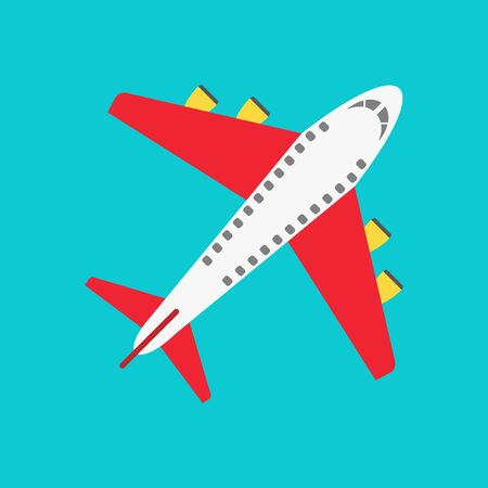 Airplane icon, flying an airplane trip, vector, illustration.