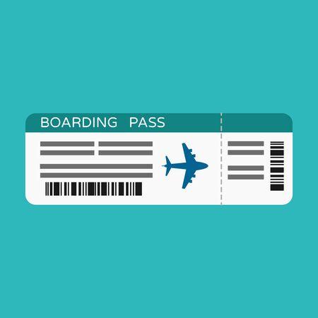 Airline boarding pass ticket, plane for travel journey, vector, illustration. Illusztráció