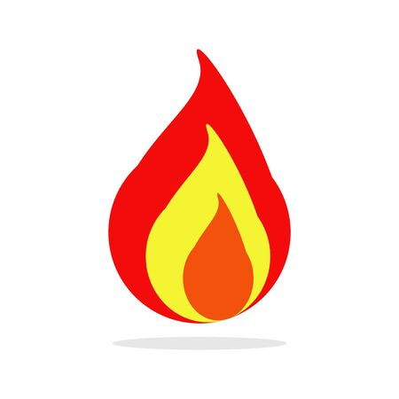 Flame fire icon, fire isolated on white background,  vector, illustration. 일러스트