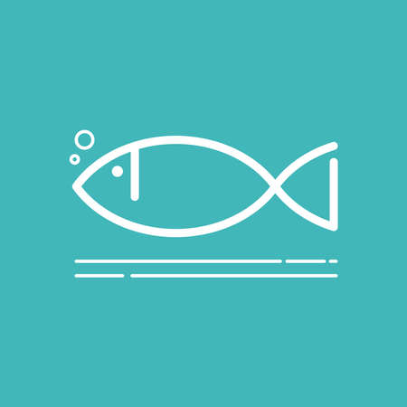 Fish icon, design, symbol of seafood restaurant, animals in a natural environment, vector, illustration.