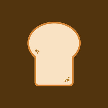 Toast bread slice icon, toast for sandwich, vector, illustration.