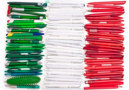 Flag of Iitaly from the pens photo
