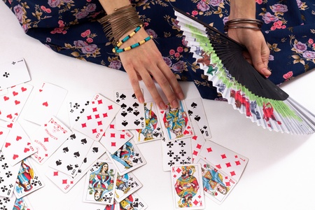 divination by playing cards
