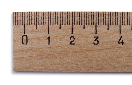yardstick on a white background