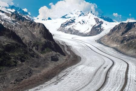 aletsch: Aletsch Glacier in the European Stock Photo