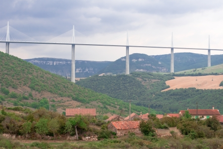 Millau Viaduct, Aveyron Departement, France photo