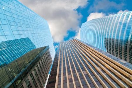 panoramics: high-rise modern building  Paris  Defense