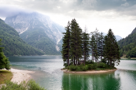 Lake Predil. Province Udine.Italy Stock Photo