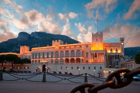 turrets: Princes Palace of Monaco, the official residence of the King