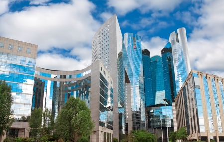 panoramics: high-rise modern building. Paris. Defense Stock Photo