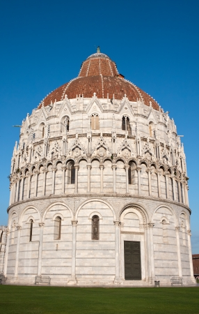 baptizing: Baptistery of San Giovanni. Pisa Stock Photo
