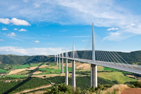 france: Millau Viaduct, Aveyron Departement, France