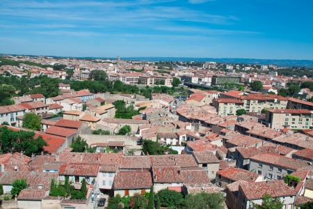 topsail: view of city of Carcassonne, France