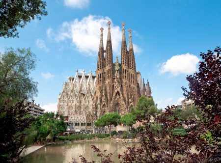 Sagrada Familia Temple in Barcelona Editorial