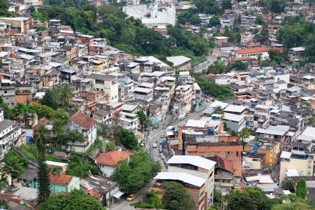 underprivileged: Favela in Rio de Janeiro