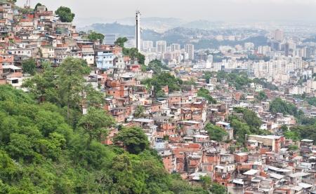 barracks: favela in Rio de Janeiro
