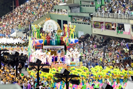 RIO DE JANEIRO - FEBRUARY 10: Show with decorations on carnival Sambodromo in Rio de Janeiro February 10, 2013, Brazil. The Rio Carnival is biggest carnival in world.