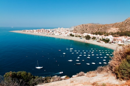 Mediterranean coast, city of Calahonda, Province of Almeria, Spain photo