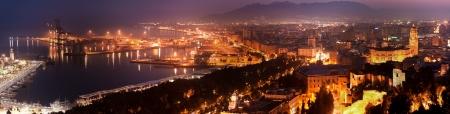 夜アンダルシア スペイン マラガの眺め