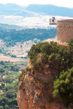 observation deck in Ronda, Malaga Province, Andalusia, Spine