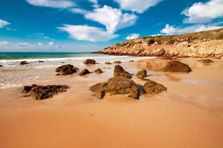 ボロニアへも、カディス、スペイン、アンダルシア州のビーチします。 写真素材
