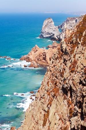 roca: Coastal cliffs at cape Roca  Cabo da Roca  Sintra, Portugal