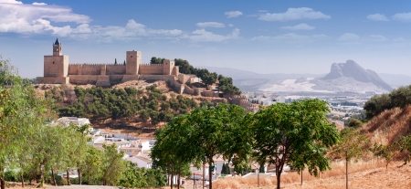 Castle fortress Real Colegiata de Santa Maria La Mayor, Antequera, Malaga Province, Andalucia, Spain Stock Photo