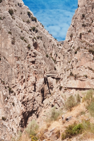 Royal Trail (El Caminito del Rey) in gorge Chorro, Malaga province, Spain photo