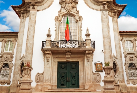 consulate: Facade of old building Consulate of Portugal in Sevilla, Spain Stock Photo