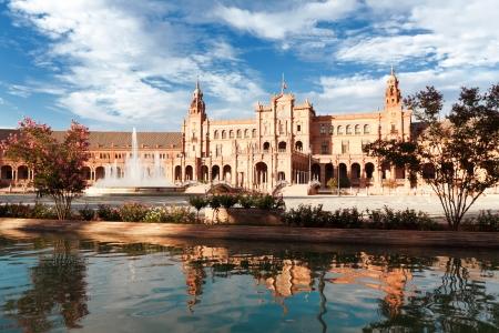 sevilla: Spaanse plein in Sevilla, Spanje Redactioneel