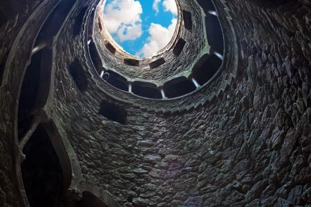 masonic: Masonic initiation well in Quinta da Regaleira, Sintra, Portugal