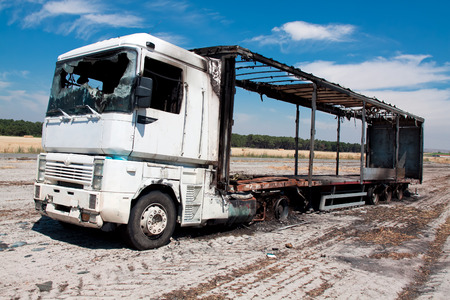 burned-out truck photo
