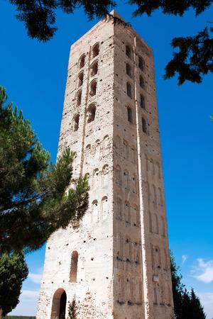 mudejar: Mudejar Tower of San Nicolas Church Ruins,Coca-Segovia Province,Spain.