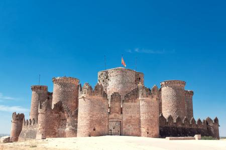 belmonte: castle at Belmonte. Cuenca, Spain