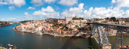 ribeira: view of old town of Porto, Portugal Stock Photo