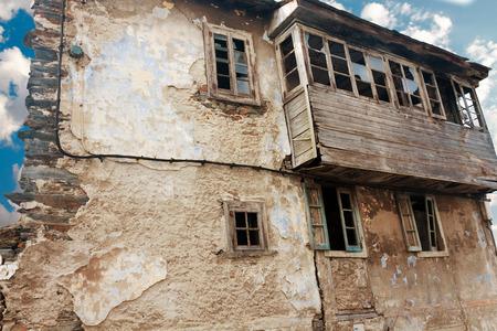 dilapidated: old dilapidated building in Asturias. Spain