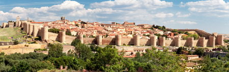 view of historic city of Avila, Castilla y Leon, Spain