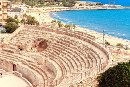 roman amphitheatre: Anfiteatro romano de Tarragona.Catalonia. Espa�a