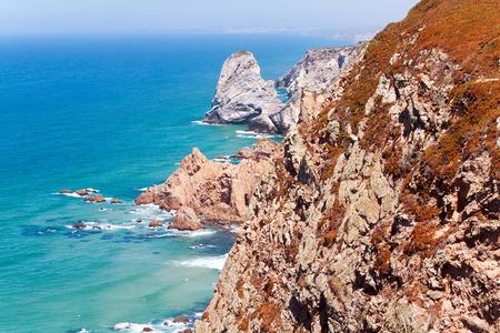 roca: Coastal cliffs at cape Roca (Cabo da Roca) Sintra, Portugal