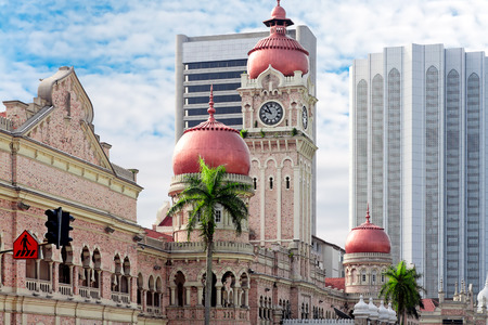 Clock tower of Sultan Abdul Samad. Kuala Lumpur, Malaysia